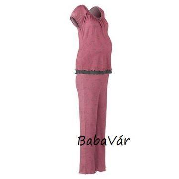 2hearts rózsaszín mintás  kismama/ szoptatós pizsama