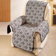 Textil fotelvédő takaró barna mintás