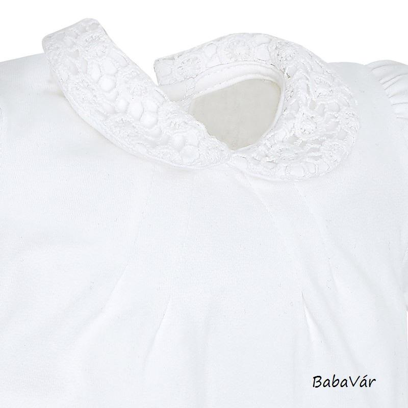 Mayoral fehér horgolt gallérú body kislányoknak  2286cd2a3e