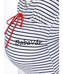 Mama Licious New Josefine csíkos kismama egybe részes fürdőruha