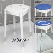 Russka Komfort Állítható magasságú fürdőszék forgatható párnával
