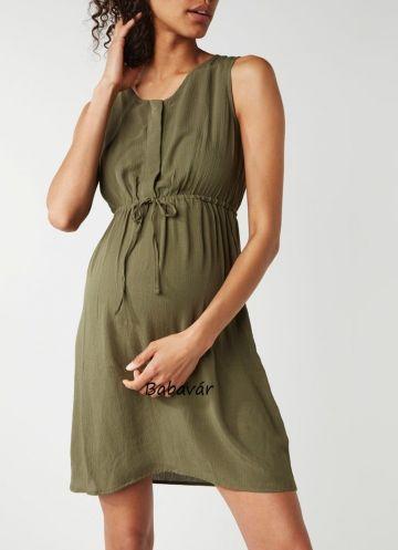 Mama Licious Erica Lia kheki szoptatós / kismama nyári ruha