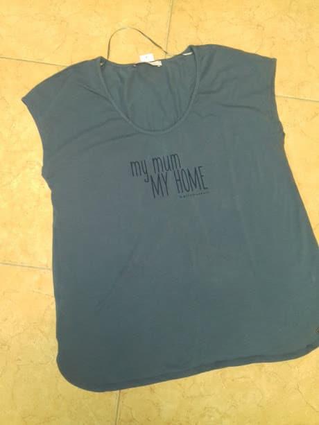 12e3d03583 Bellybutton My mum my home feliratos kék kismama póló ...