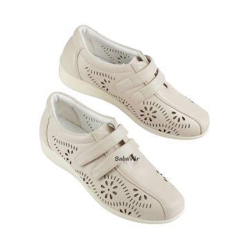 Drapp  tépőzáras női cipő