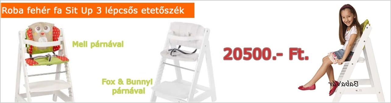 Roba fehér fa Sit Up 3 lépcsős etetőszék