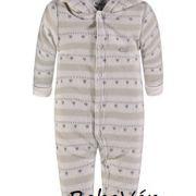 Kanz fleece Snowsuit uniszex szürke babaoverál