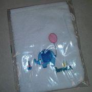 Fehér frottír Pampers hímzett mosdókesztyű