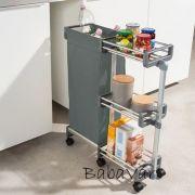 Gurulós fürdőszobai vagy konyhai kocsi