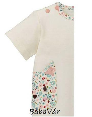 Bornino MILLE FLEURS fehér cicás rövid ujjú póló