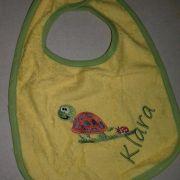 Bornino sárga frottír hímzett baba előke