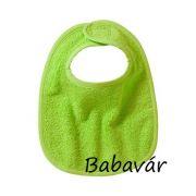 Bornino zöld frottír  baba előke Selina