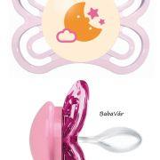 Mam Perfect Night Szilikon cumi rózsaszín holdas 0-6 hó