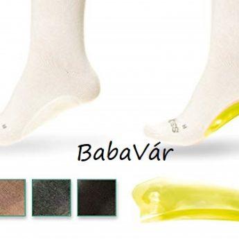Soxies beéptett gél pad lábnyugtató zokni Fekete