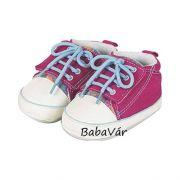 6d1cb1e1ff Sterntaler pink színes tépőzáras vászon babacipő kocsicipő