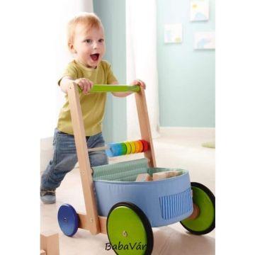 Haba fa Járássegítő Tologatós kiskocsi babáknak