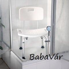 Rehaforum Medical háttámlás zuhanytartós  Zuhanyszék zuhanytartóval