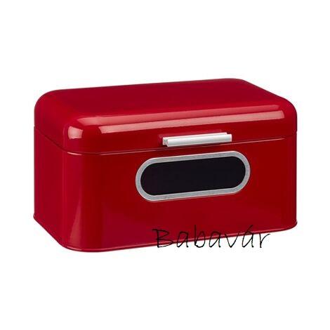 Retro Fém kenyértartó Box Piros