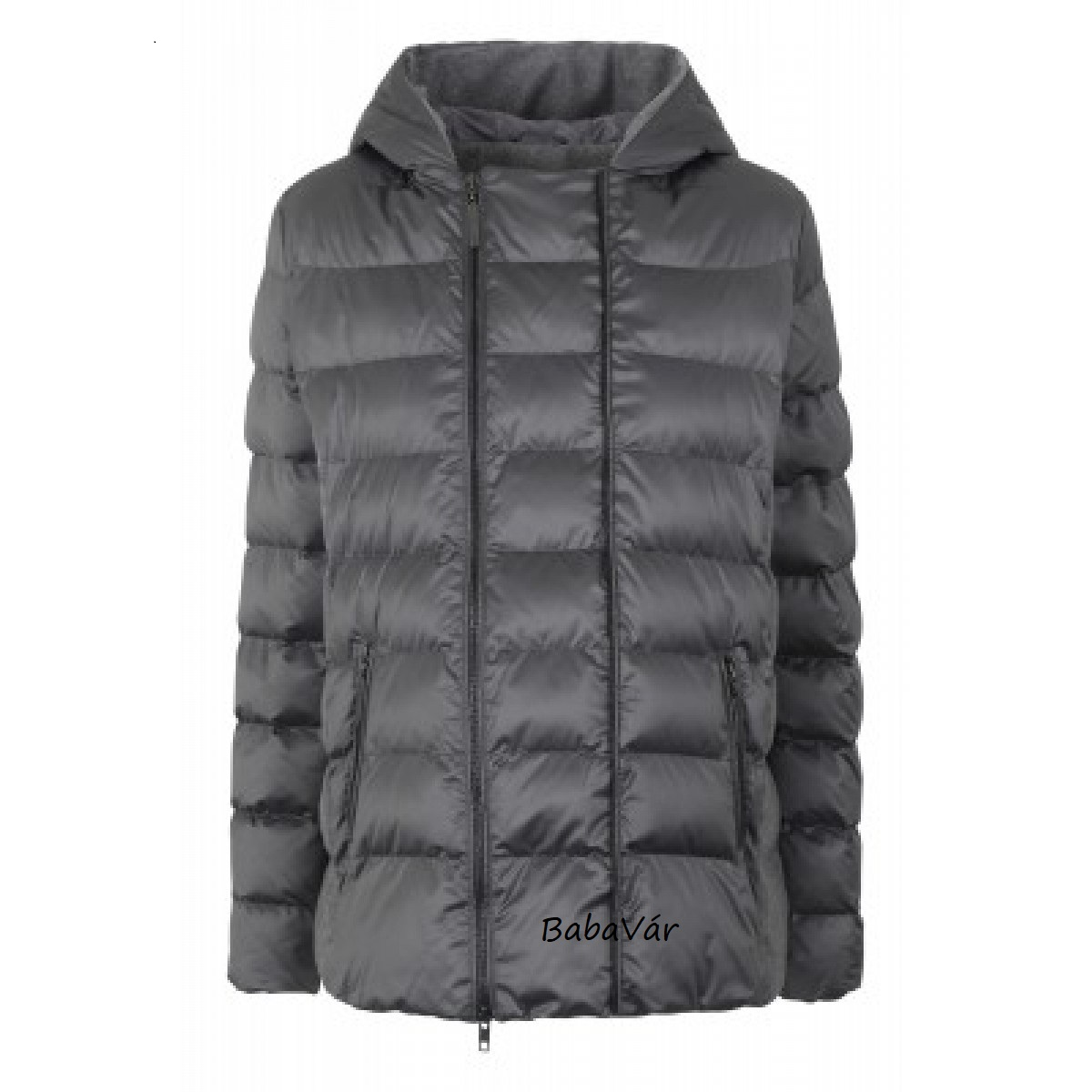 BellyButton Kapucnis  2 az 1-ben kismama téli kabát / kismama dzseki szürke