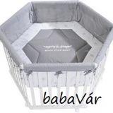 Roba járóka fa Playpen Hexagonal 120 cm White Rock Star Baby 2
