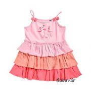 Blue Seven flamingós spagetti pántos kislány ruha