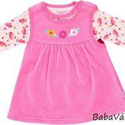 Fixoni rózsaszín plüss kislány ruha alsó bodyval