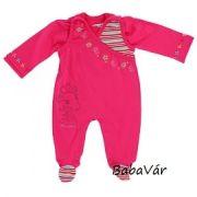 Jacky Baby pink virágos pamut rugi szett