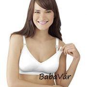 Medela komfort BH kivehető szivacsbetétes fehér szoptatós melltartó