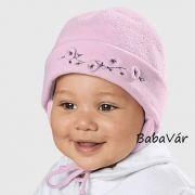 Sterntaler rózsaszín hímzett téli kislány sapka 5668722e1e