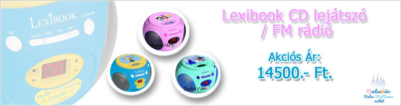 Lexibook CD lejátszó FM rádióval