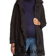 Mama Licious Tikka fekete kismama téli kabát