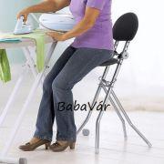 Fekete/ezüst magasított háztartási szék