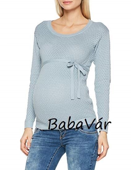 48033ae45e Mama Licious Crystaline kötött szürke megkötős kismama pulóver ...