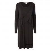 MamaLicious Safir fekete szoptatós / kismama ruha