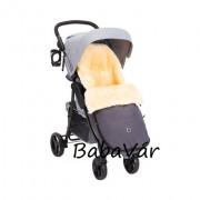 BabyCab Elista báránygyapjú  bundazsák babakocsiba blue melange