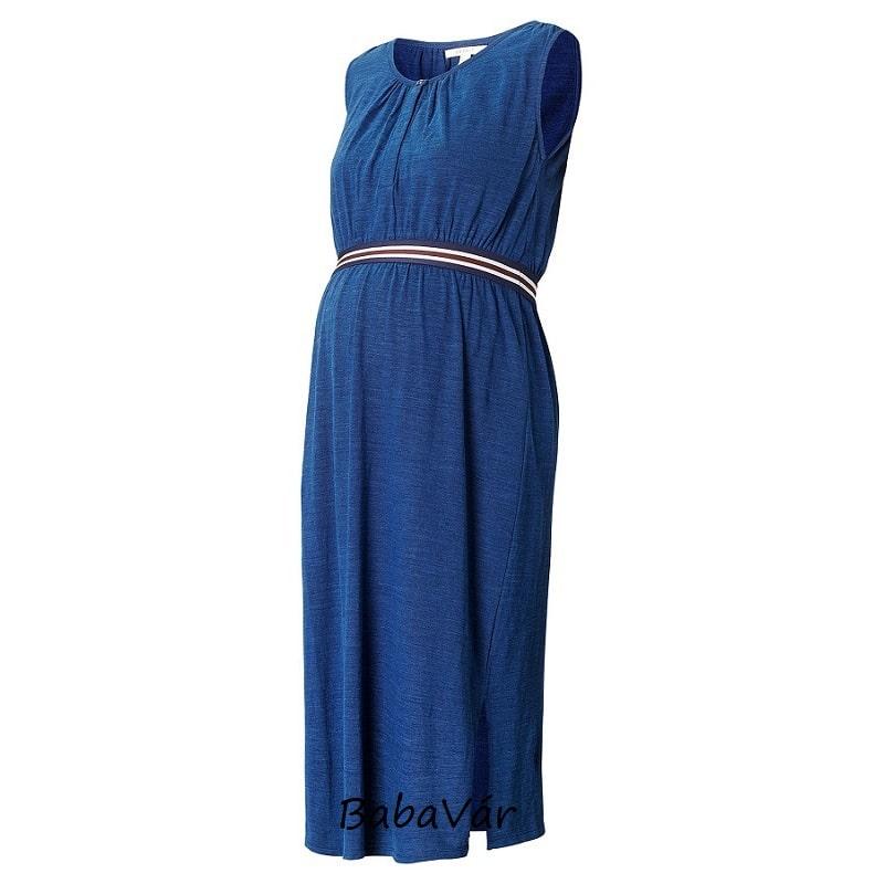 Esprit kék szoptatós kismama ruha