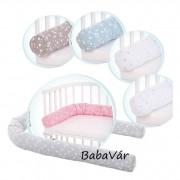 Babybay rácsvédő párna bölcsőbe / kiságyba rózsaszín  csillagos