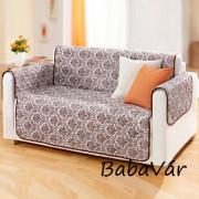 Két oldalas Textil kanapévédő takaró Barna mintás
