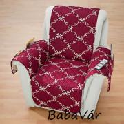 2 az 1-ben kétoldalas fotelvédő takaró : Deluxe barna