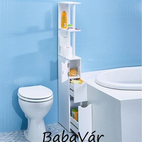 Fürdőszobai térelválasztó tároló polc