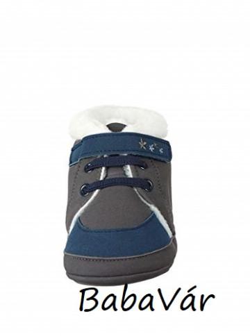 Sterntaler kék csillagos szőrmés babacsizma/babacipő
