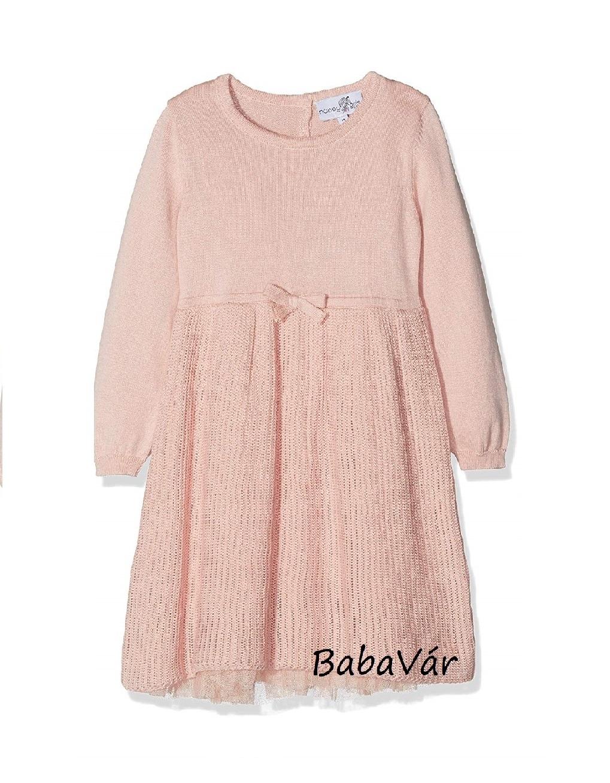 Happy Girls rózsaszín kötött / tüll alsó szoknyás  kislány alkalmi ruha