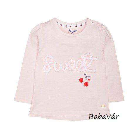 Mothercare Sweet rózsaszín hosszú ujjú baba felső