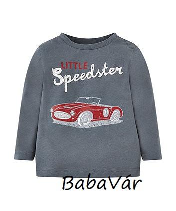 MotherCare little speedster piros versenyautós hosszú ujjú kisfiú felső