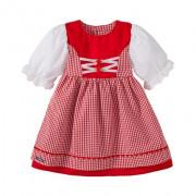 473277ed5c Carl and Lina Dirndl piros kockás német nemzetiségi kislány ruha