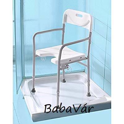 Rehaforum Medical háttámlás karfás összecsukható Zuhanyszék  /fürdőszék