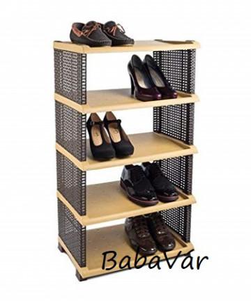 Tuffex 5 szintes műanyag/műrattan cipőtartó polc