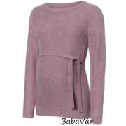 Mama Licious Jessica  kötött Purple/Elderberry megkötős kismama pulóver