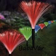Easy maxx Solár Ledes színváltós optikai szálas kerti dekor lámpa sor
