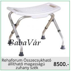 Rehaforum Összecsukható állítható magasságú zuhany szék