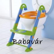 Rotho Kids Kit 2 az 1-ben wc szűkítő, fellépő kék/sárga/zöld